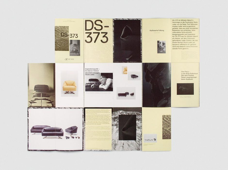 de Sede – Neuheitenbroschüre DS 373