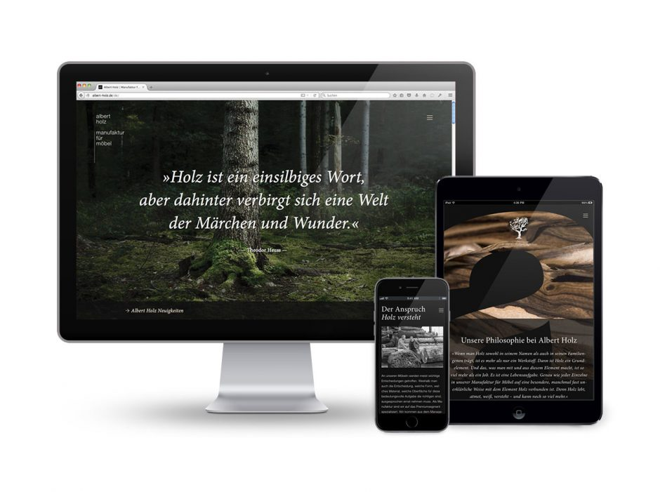 Albert Holz – Corporate Website