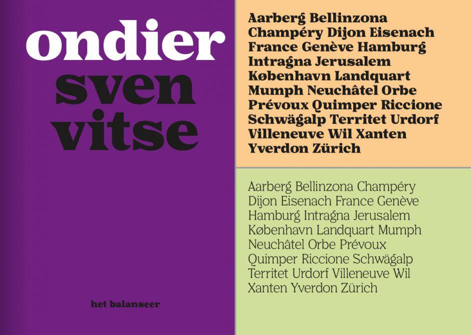 Auch für das Kunstmuseum in Gent entwarf Wiewauters ein CD, das von einer eigenen Schrift, dem Font Scribe, getragen wrd. Das Logo wird ebensfalls nur durch den Satz im fettem Schnitt der Hausschrift gebildet. Mit Scribe gestaltet Wiewauters aber auch andere Objekte wie diesen schlichten Buchtitel