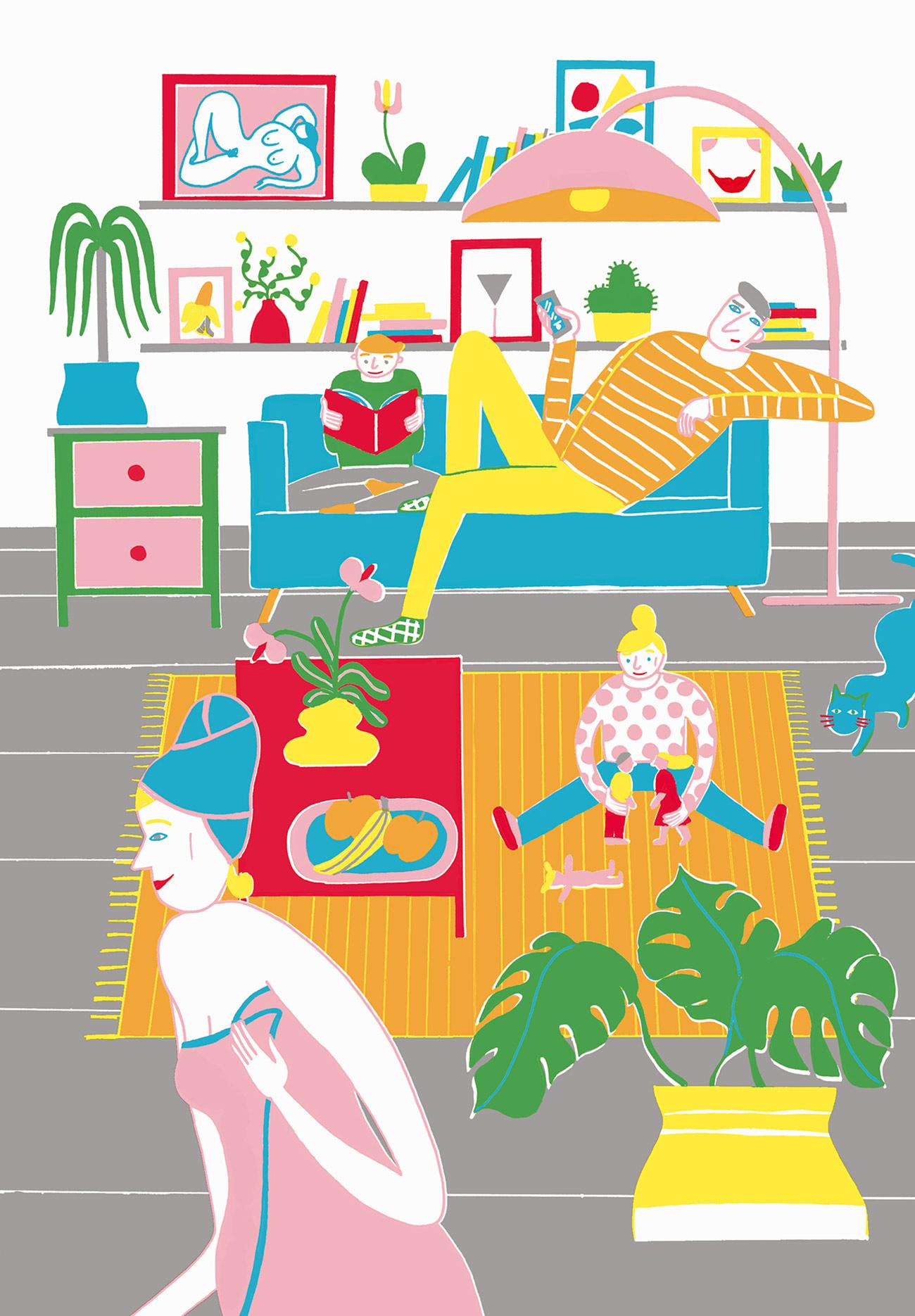 Illustration für das Rosegarden Magazin