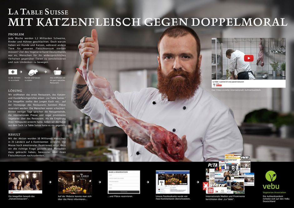 Kategorie Digitale Medien - Digitale Kampagne: Scholz&Friends – La Table
