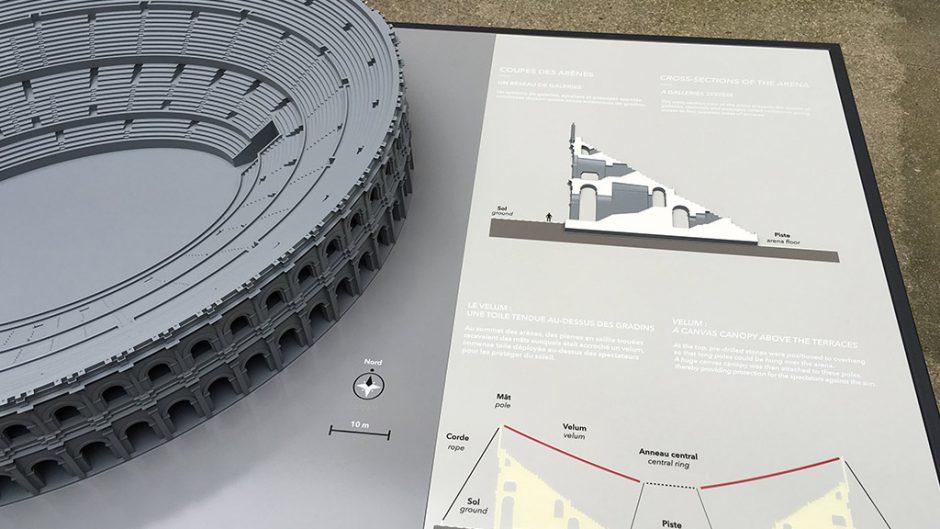 Projekt Amphitheater von Nimes, Tastmodell, 2016