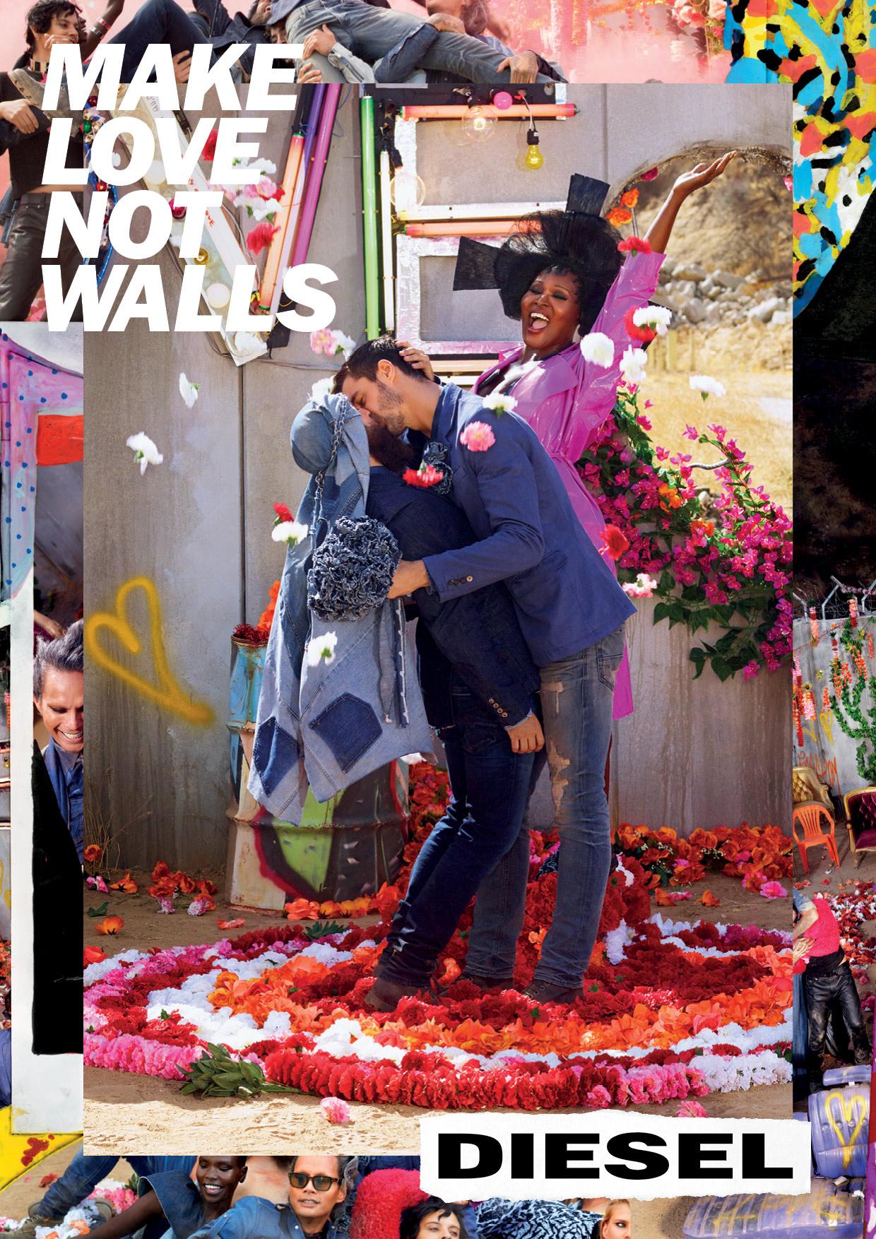 #makelovenotwalls – Diesel Kampagne SS17