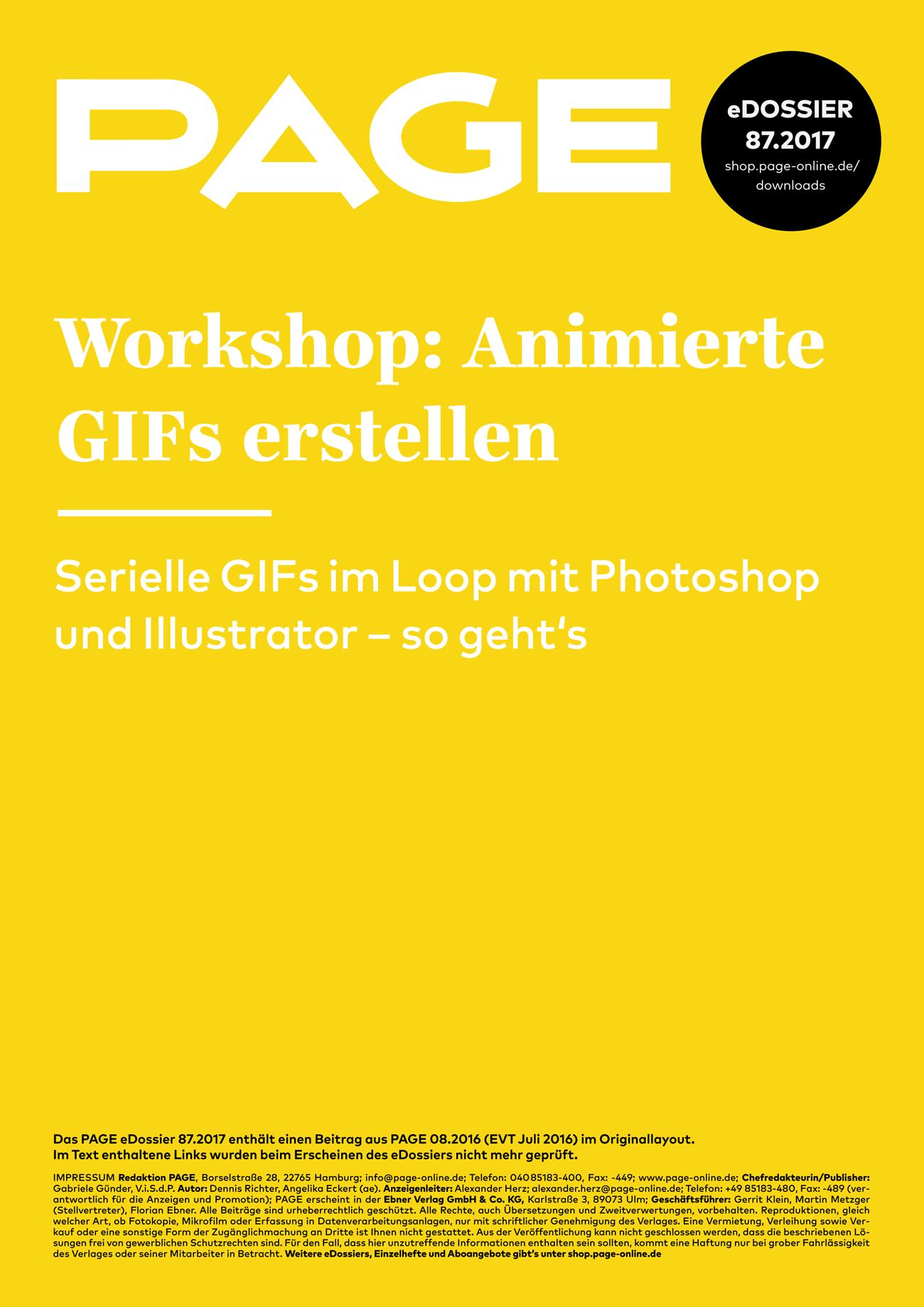 Animierte GIFs erstellen, Photoshop, Illustrator