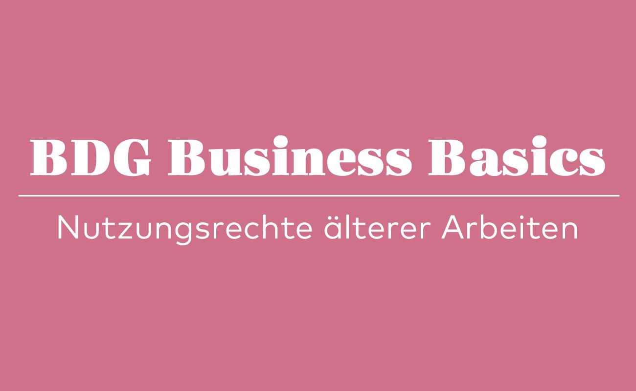 BDG, Nutzungsrechte, Urheberrechte, Freelancer