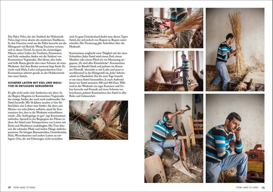 Laura Bernhardt, Benjamin Tafel, From Hand to Hand, Fotobuch, Handwerk, Website