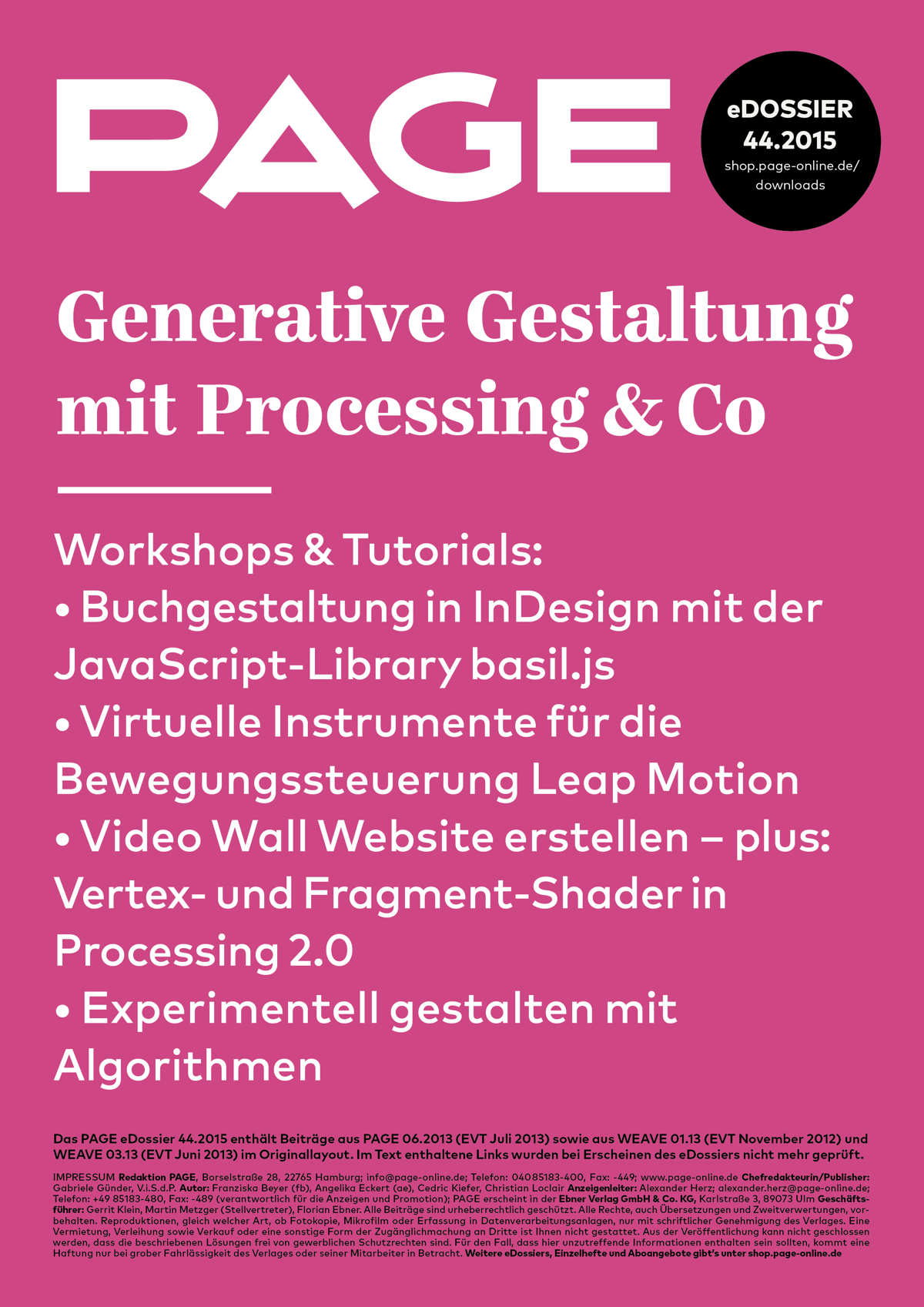 Generative Gestaltung, Processing, Datenvisualisierung, Interaction Design, Digital Design