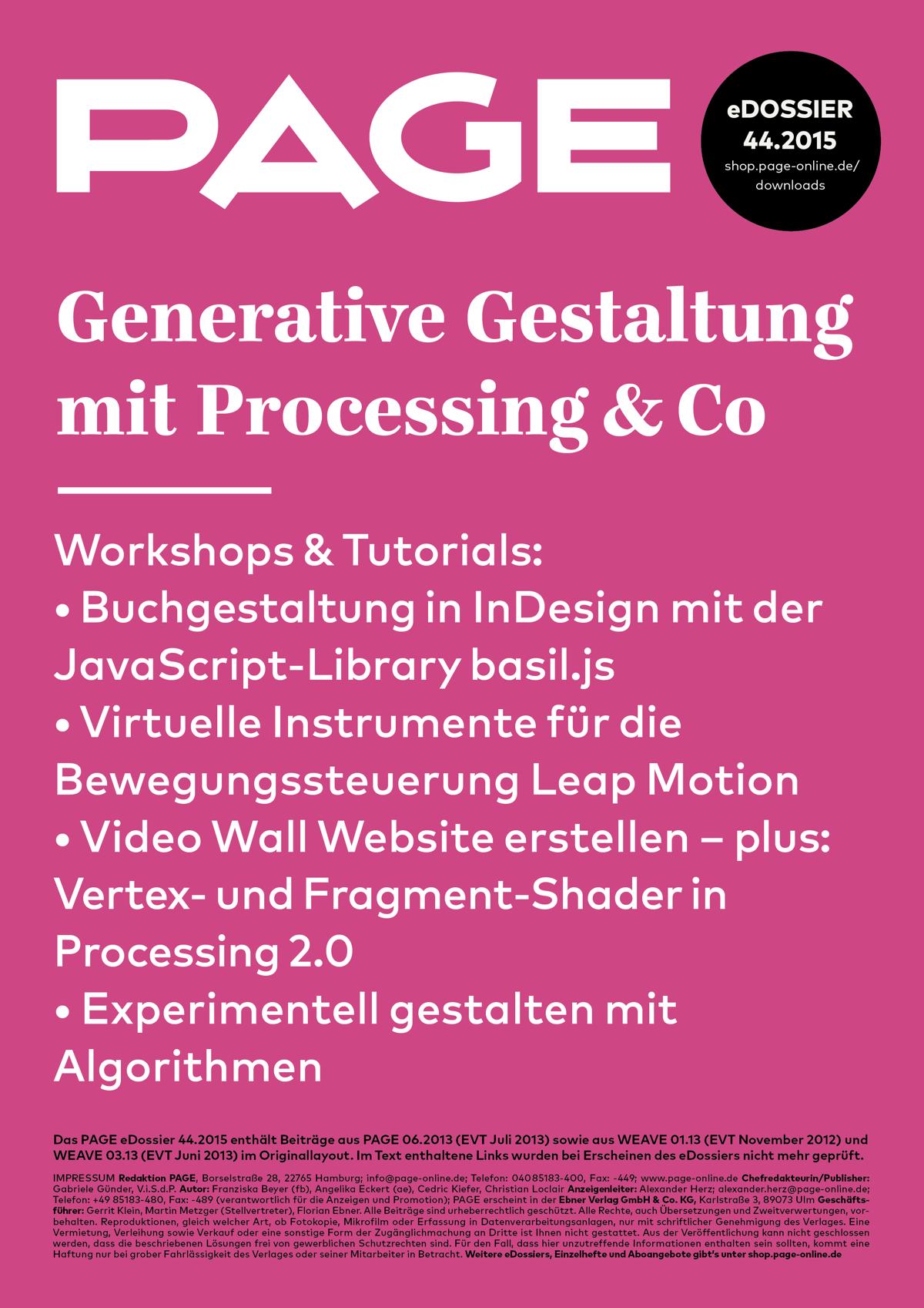 Generative Gestaltung, Processing, Datenvisualisierung, Interaction Design, Digital Design