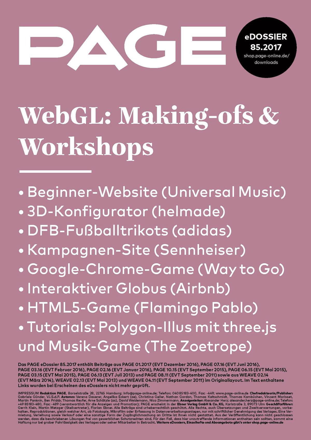 WebGL, Design, Development, three.js, JavaScript, HTML5, web 3d, graphics library