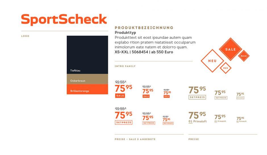 Strichpunkt; Brand Design; SportScheck; Rebranding