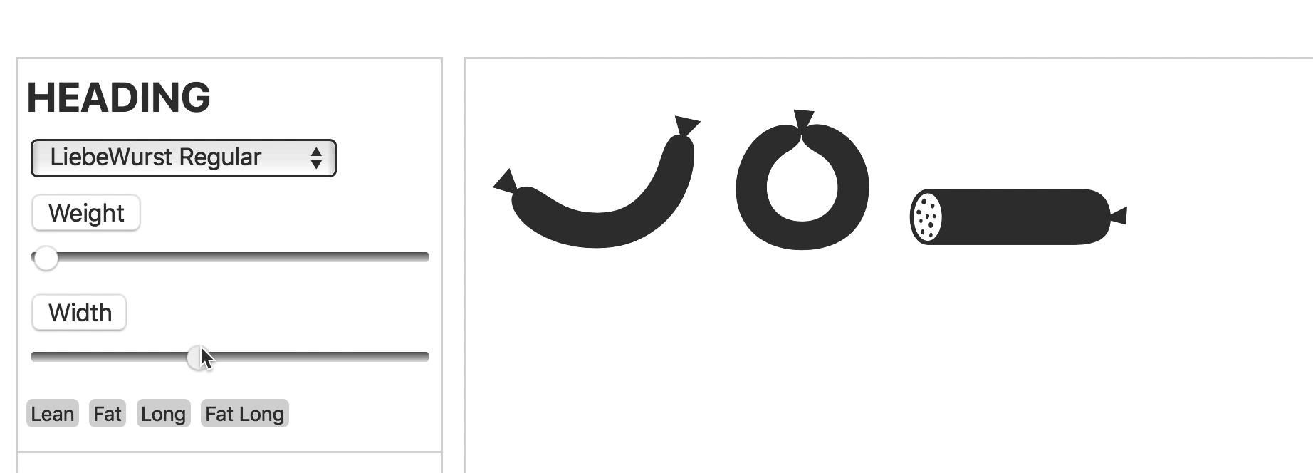Webfonts, Typografie, Fonts