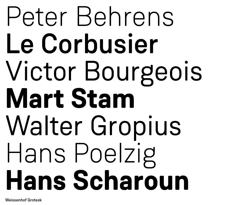 Weissenhof Typografie Font