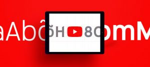 YouTube Typo Schrift Font
