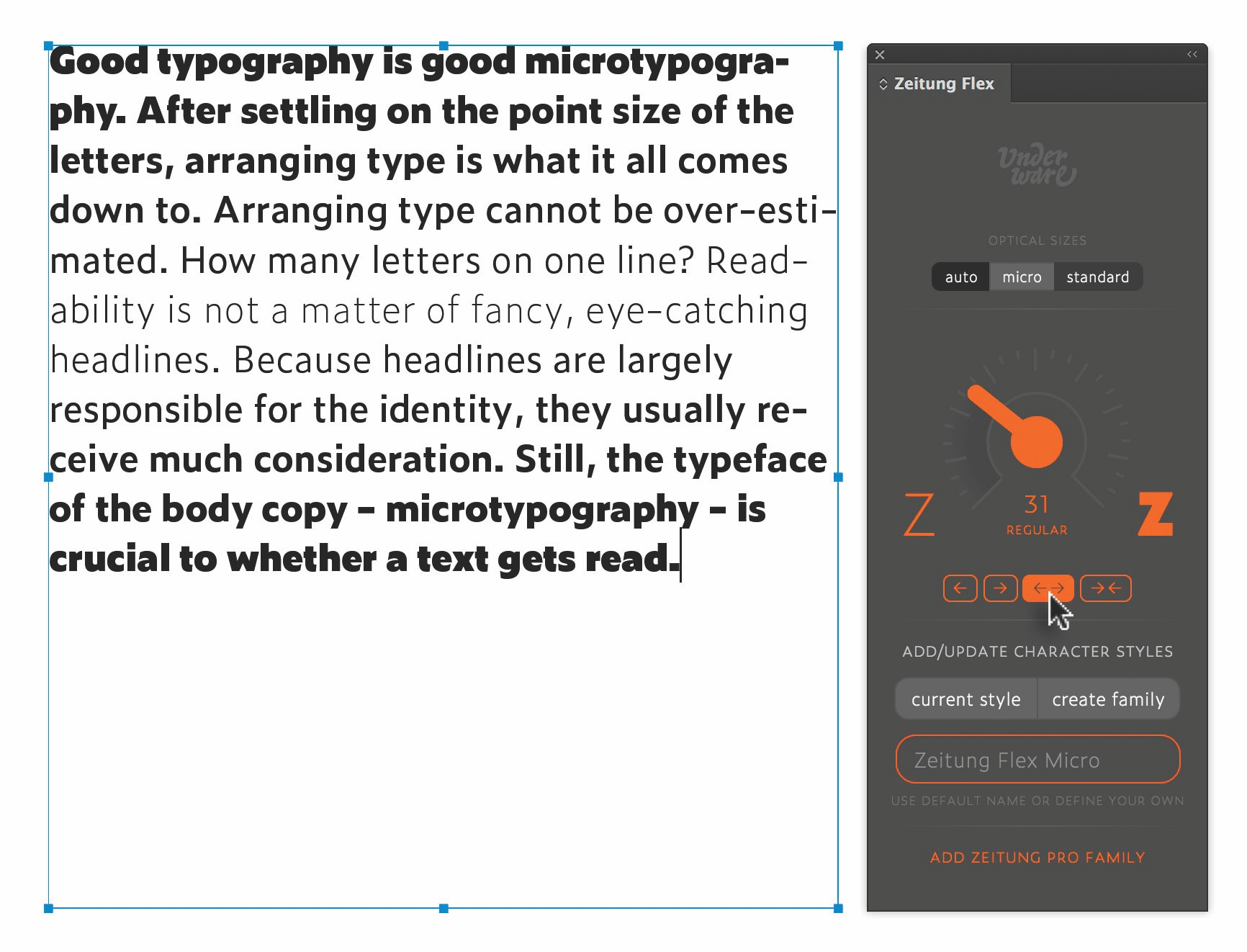 Webfonts, Typografie, Fonts