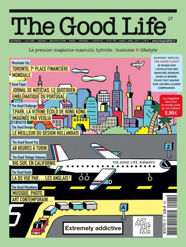 8b7929ccd81584 Ausgesprochen optimistisch kommt dieses Cover für die französische  Zeitschrift »The Good Life« von Andy Rementer daher.  http   andyrementer.com