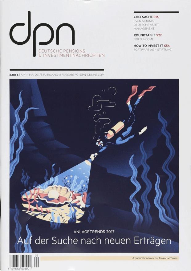b11e7423b22fca Die Themen in den »Deutschen Pensions   Investmentnachrichten« sind trocken  – Michele Marconi aus Rom hat dafür ein attraktives Cover geschaffen. ...