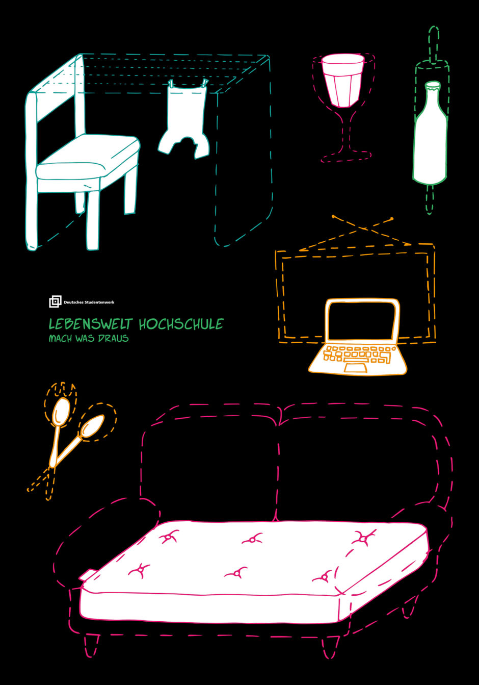lebenswelt hochschule die gewinner des 31 plakatwettbewerb des deutschen studentenwerks page. Black Bedroom Furniture Sets. Home Design Ideas