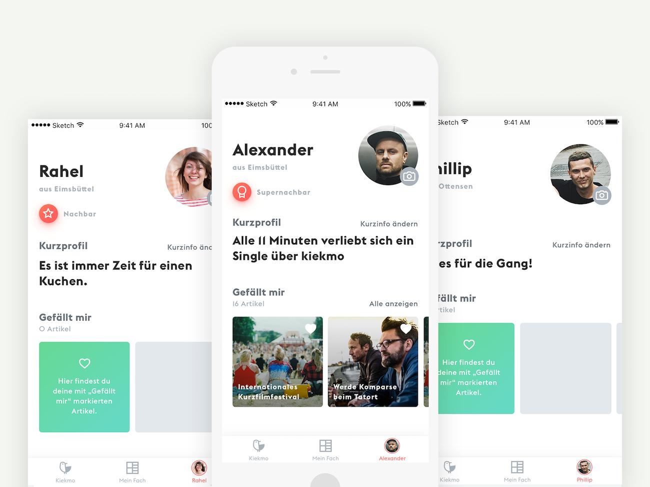 Sinner Schrader App Design