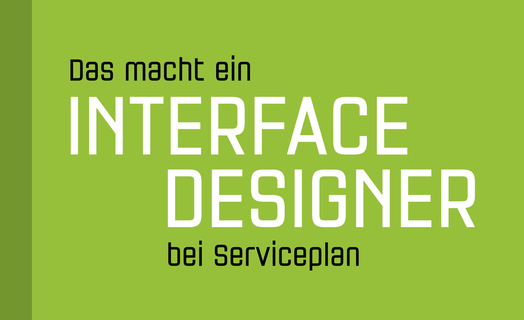 Interface Design bei Serviceplan, PAGE Connect