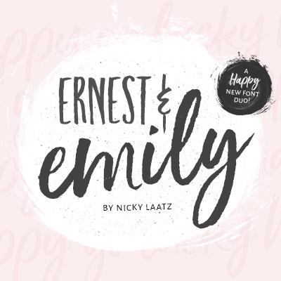 Ernest Emily Scriptfont Nicky Laatz