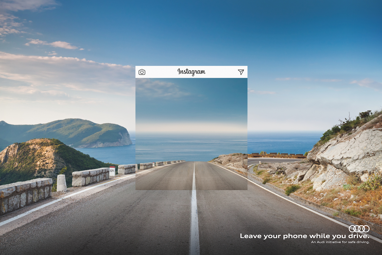Verkehrssicherheits-Kampagne »Leave your phone while you drive« von Saatchi & Saatchi für Audi.