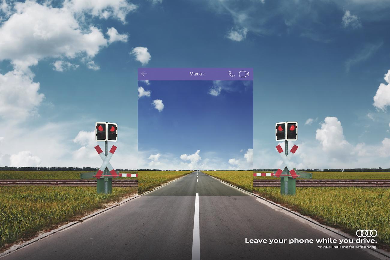Verkehrssicherheits-Kampagne »Leave your phone while you drive« von Saatchi & Saatchi für Audi.