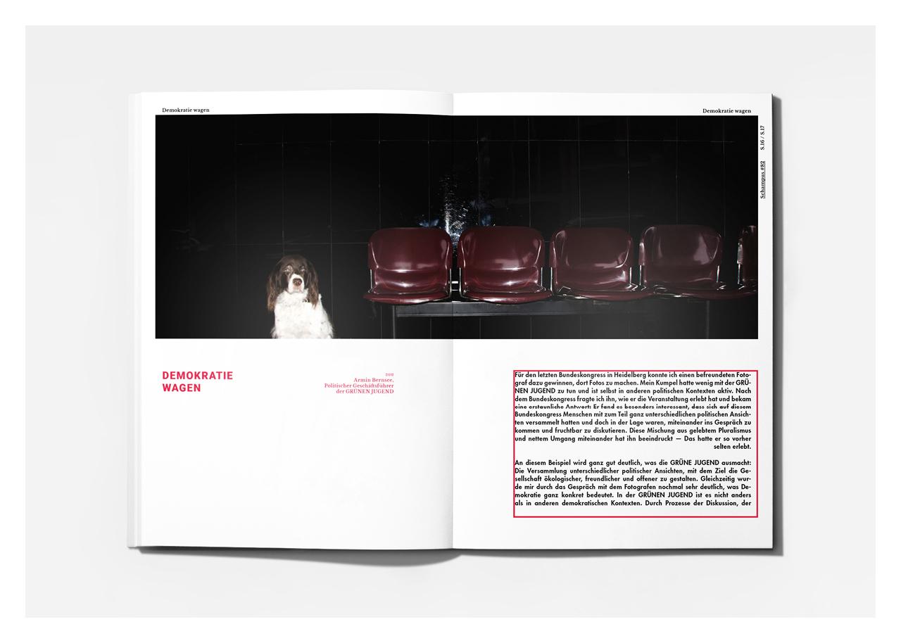 Editorial Design: Schampus Magazin von Bureau Mitte