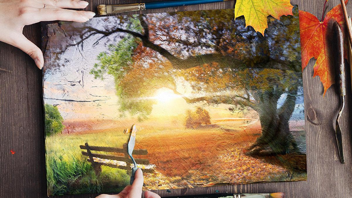 Herbst Composing Inspiriert Durch Ein Gedicht Von Rainer Maria Rilke