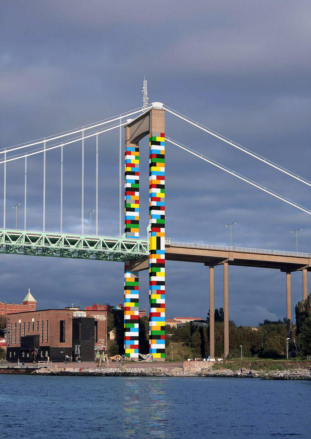 Lego Brücke Let's Color Gothenburg