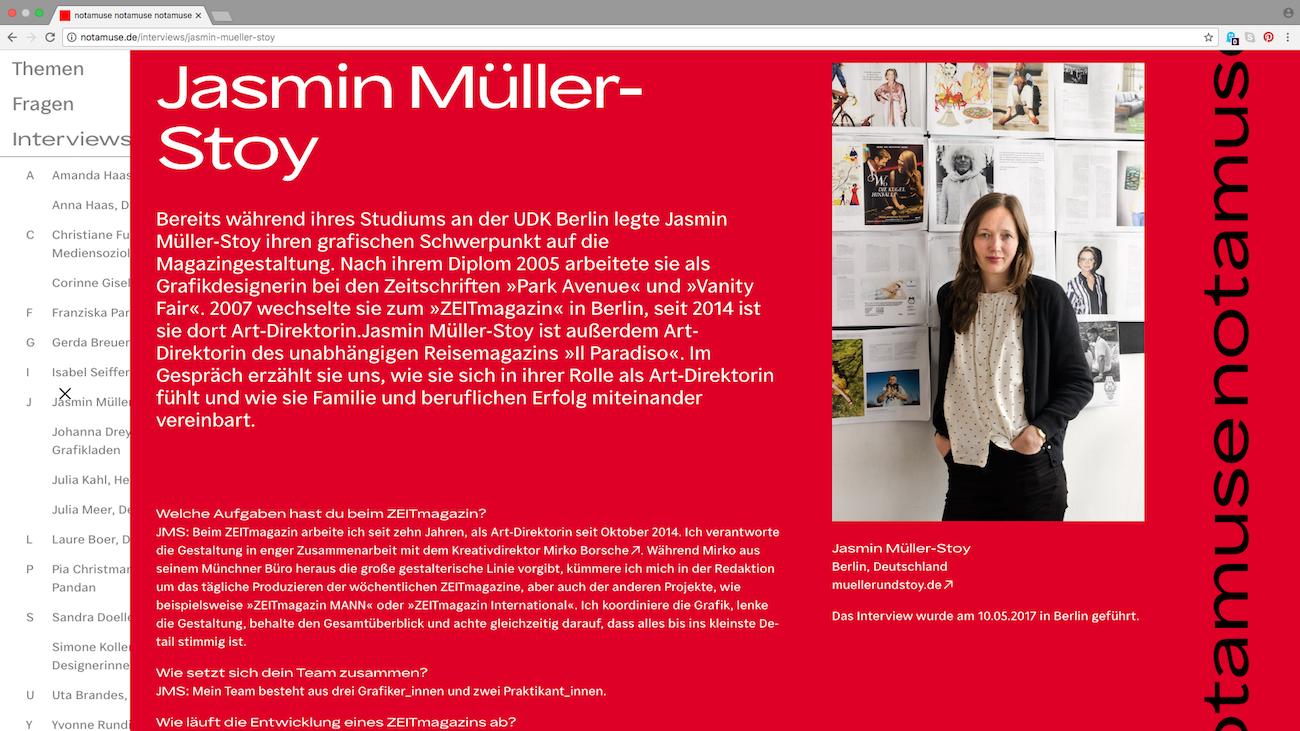 notamuse: Für mehr Frauen im Grafikdesign