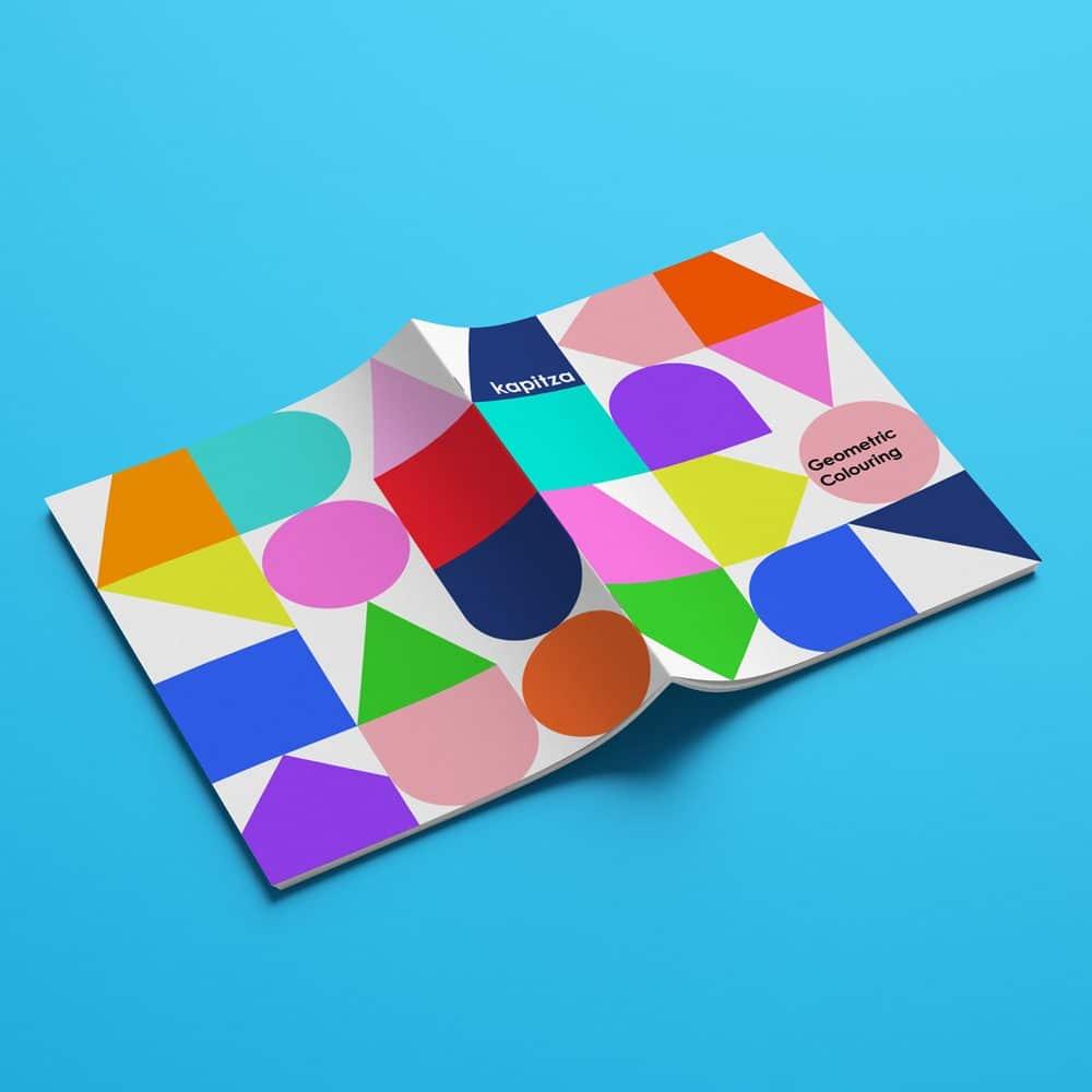 Ausmalbuch Design Kapitza
