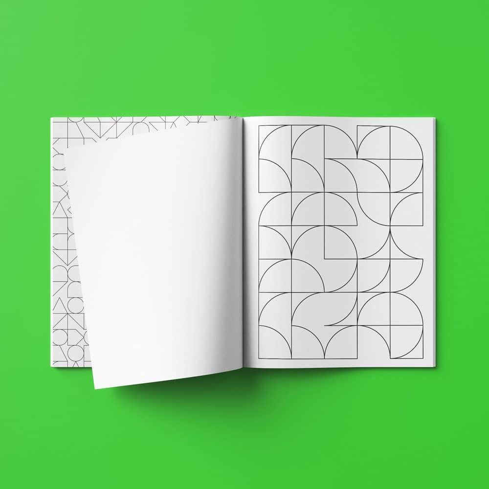 Ausmalbuch geometrische Formen