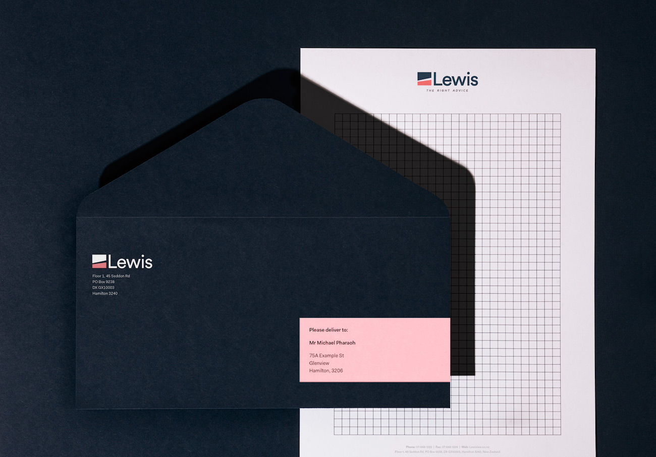 Corporate Design Branding Rechtsanwalt Lewis by Pharaoh