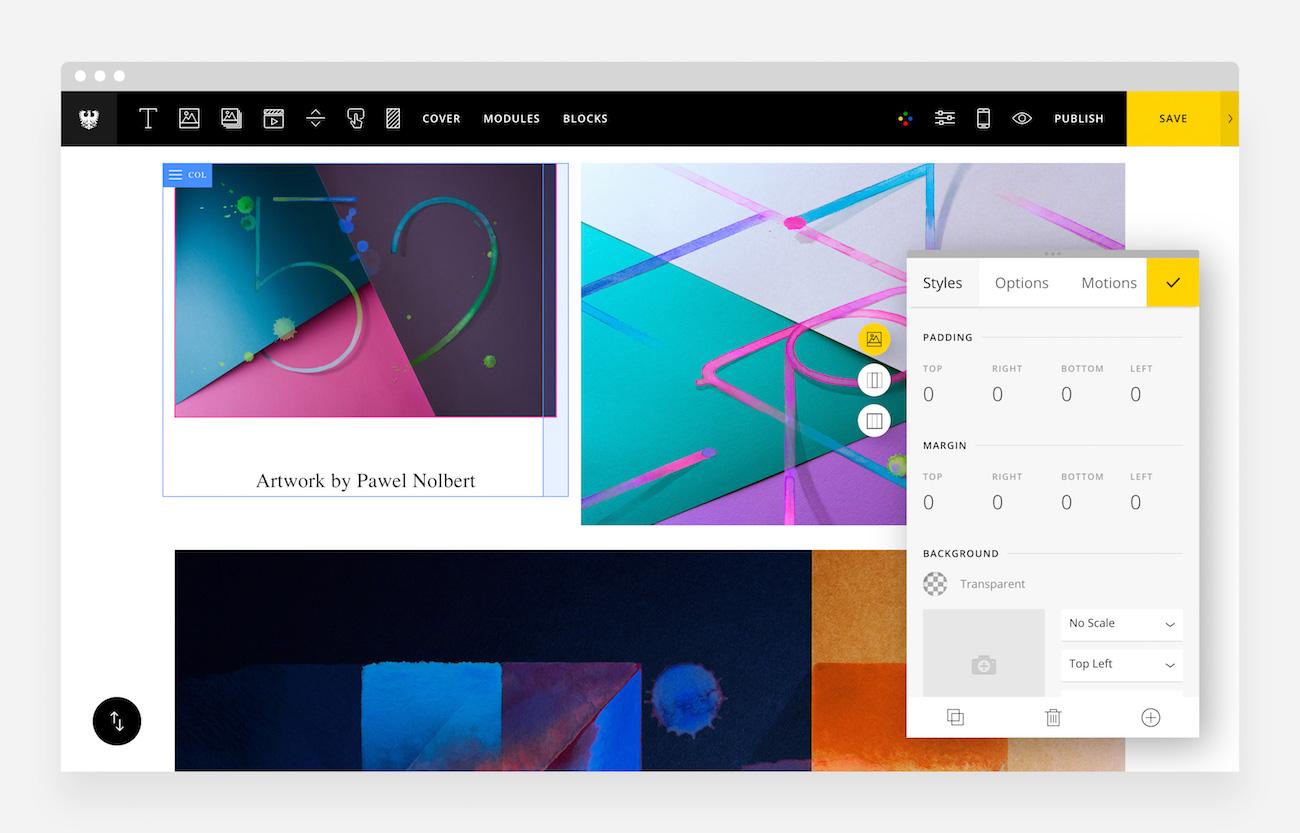 Semplice Online Portfolio Tool Designer