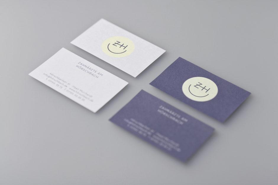 Visitenkarten Zahnarzt Corporate Design
