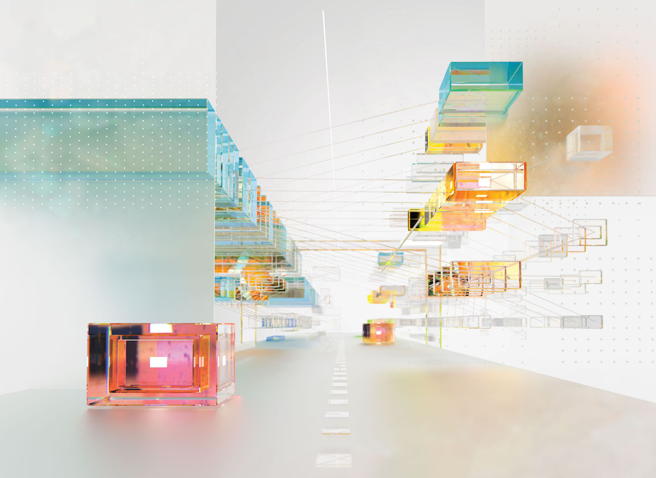 Visualisierung Algorithmus eines selbstfahrenden Autos, KI