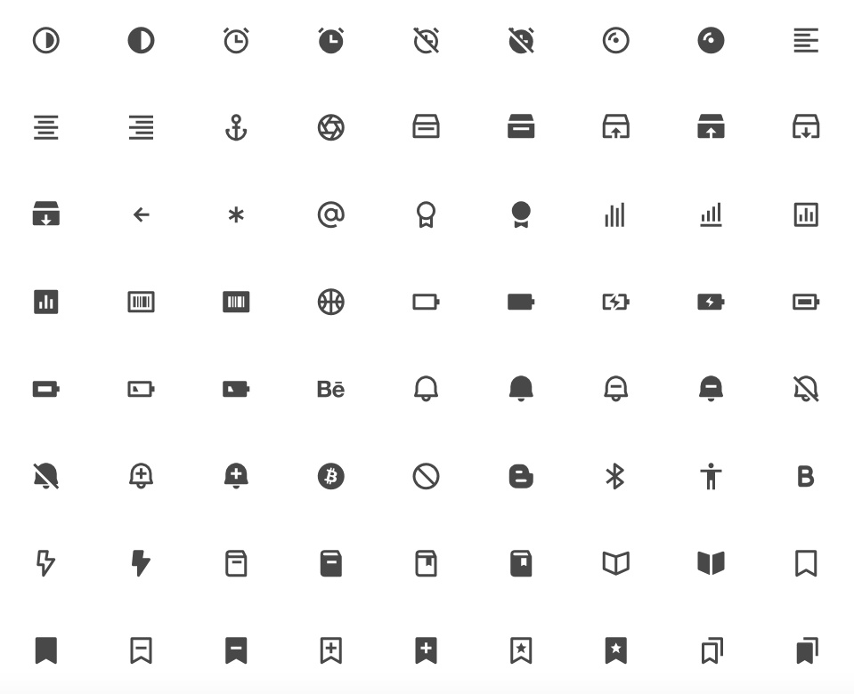 Kostenlose Icons, Icon Font, Open Source