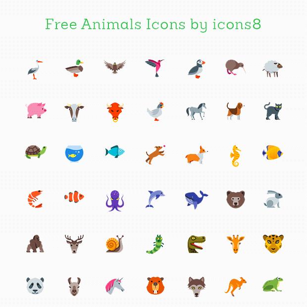 Kostenlose Icons, Tiere