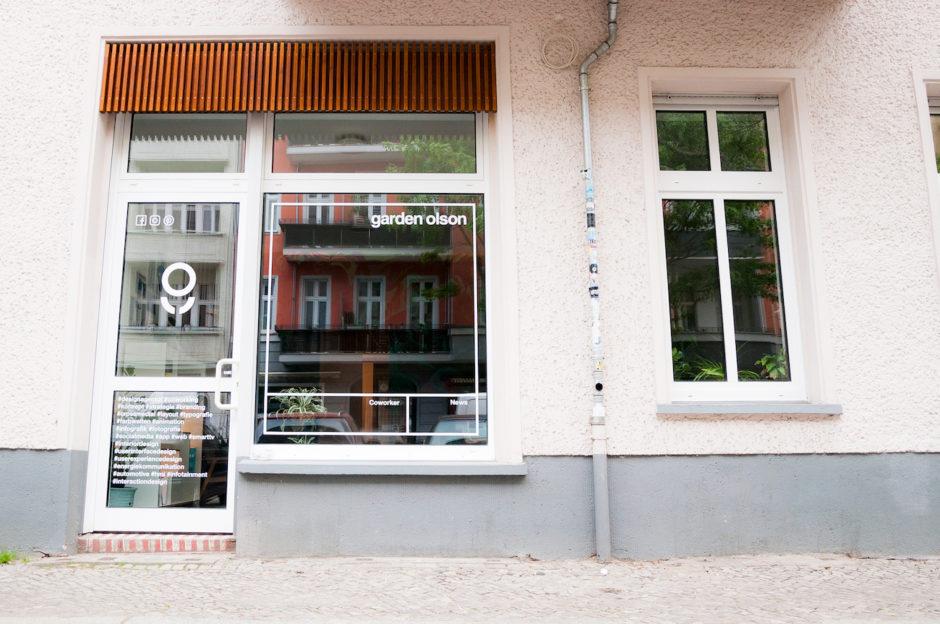 garden olson Blick ins Studio: von außen
