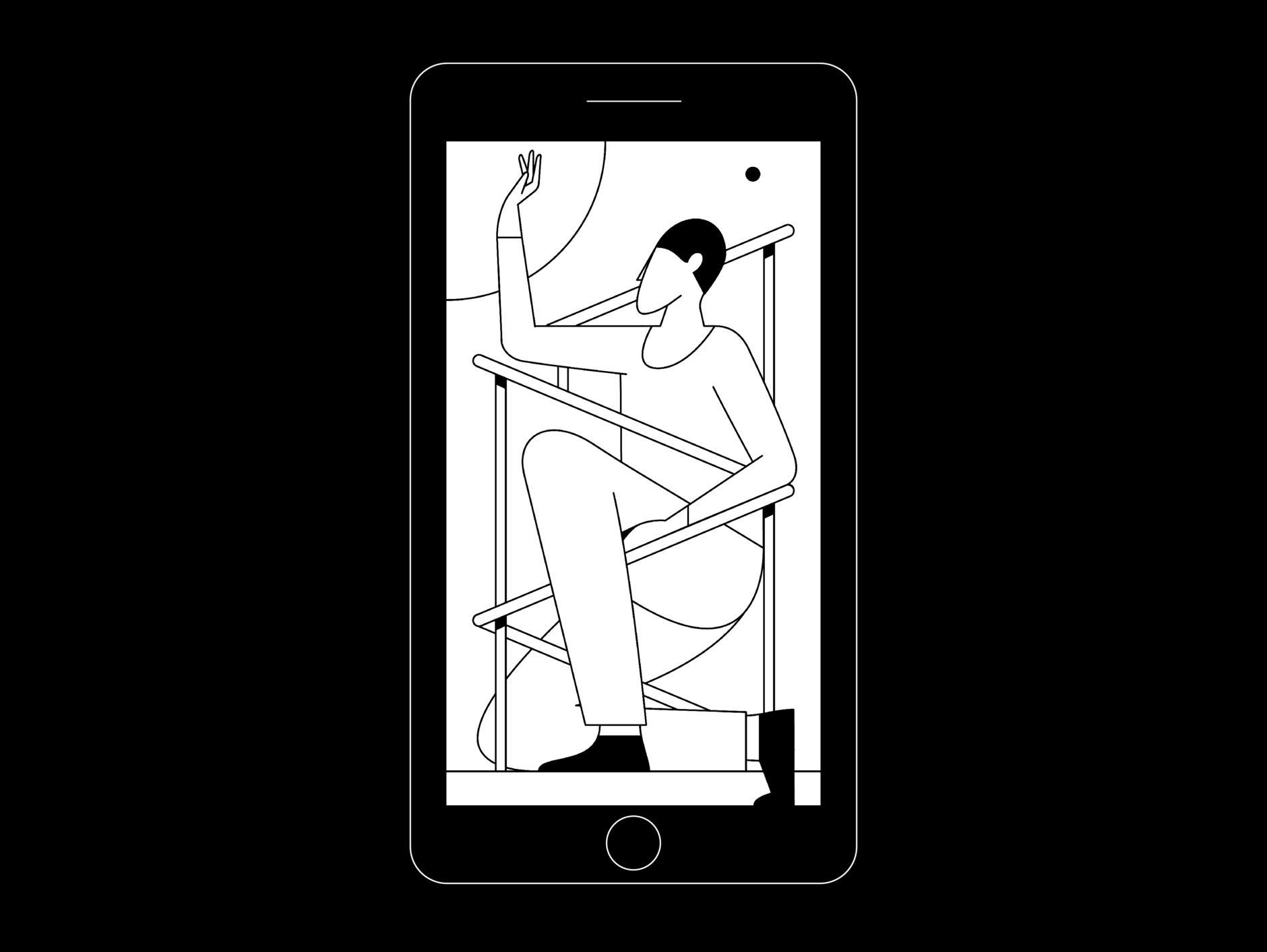 Kontrast Mobile Game von Illustrator Timo Kuilder