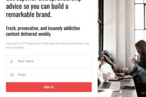 UX Writing, UX Design für Newsletter-Anmeldung