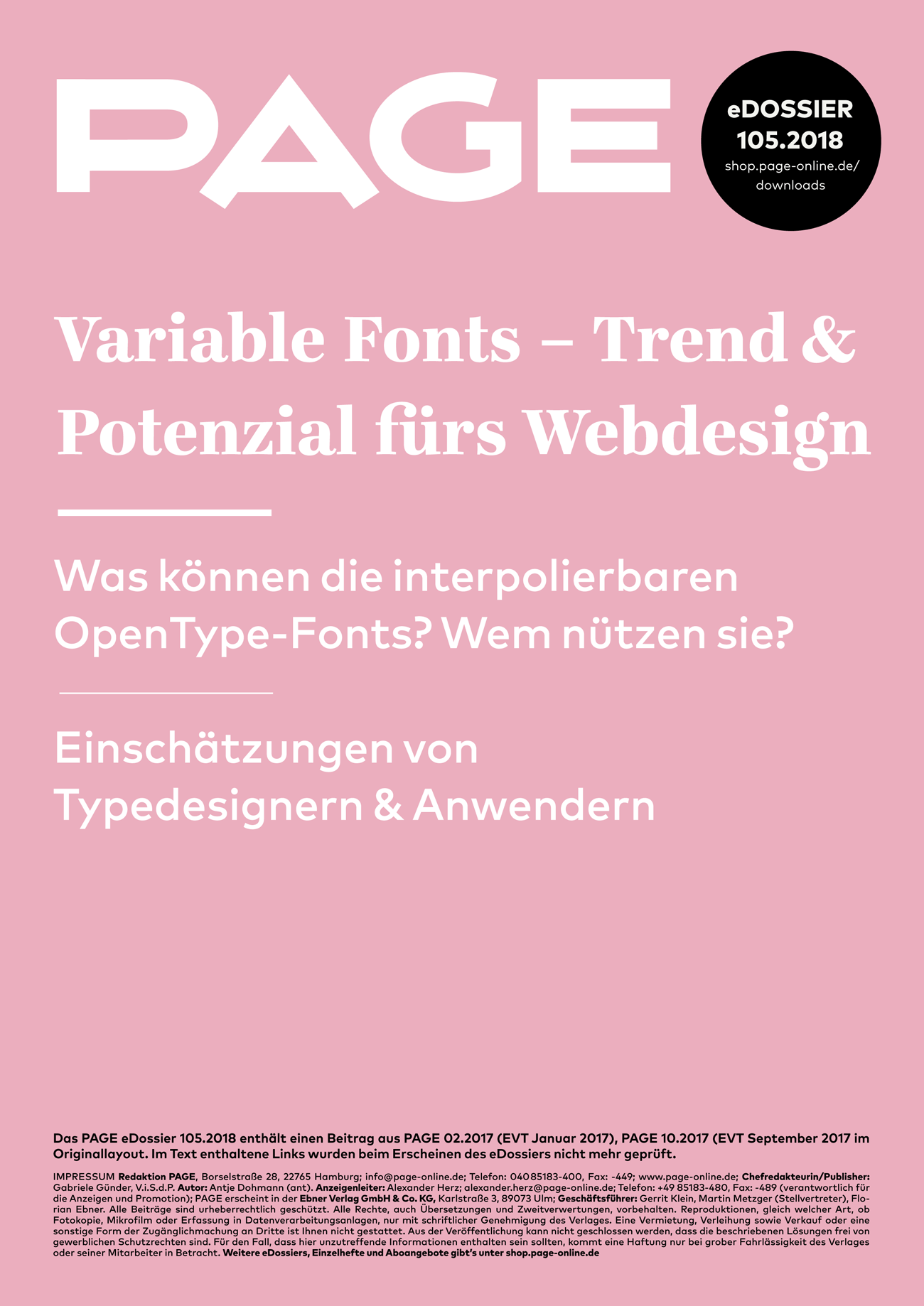 Variable Fonts, OpenType Features, Fonts