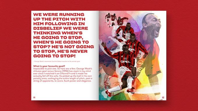 Buchillustration Fußballbuch