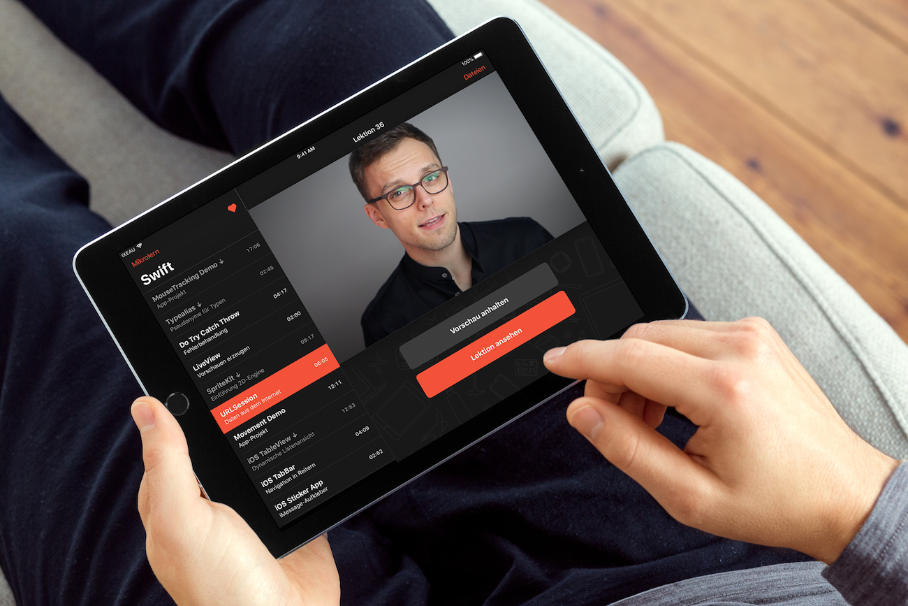 Mikrolern für Swift, E-Learning-App