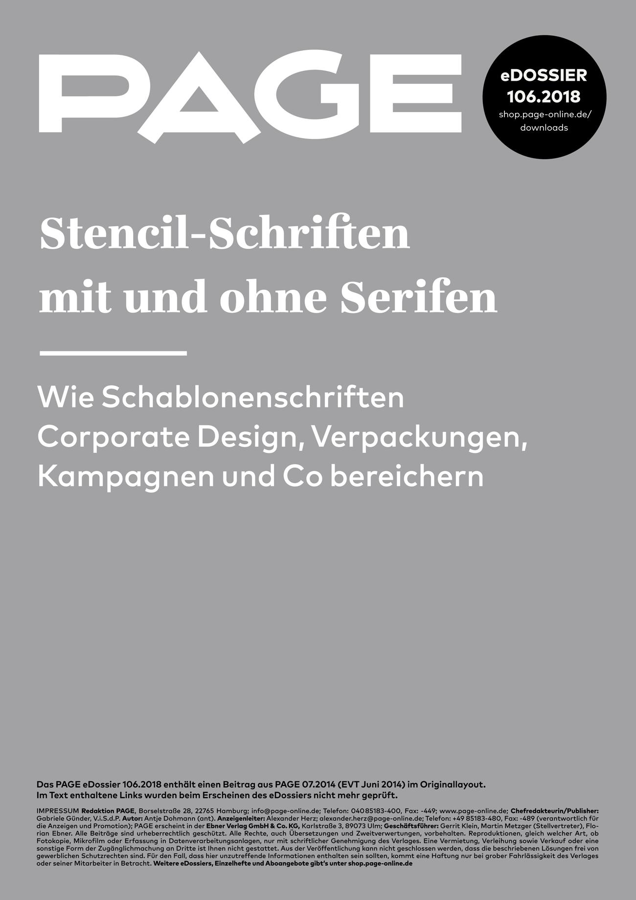 Stencil-Schriften