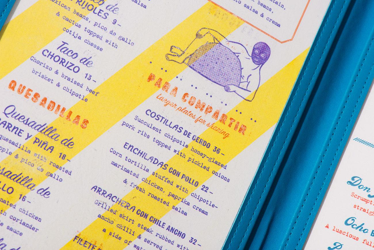 Speisekartendesign, Foreign Policy für Super Loco