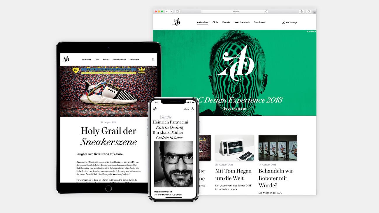 ADC neue Identity Website
