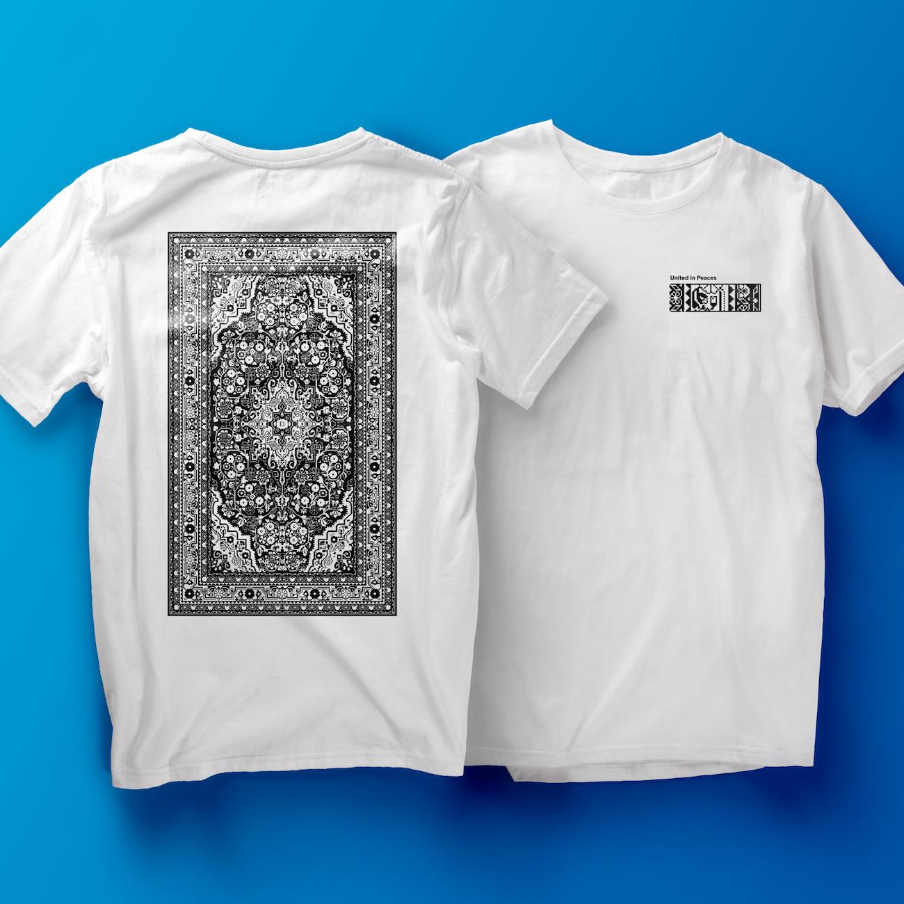 2erpack T-Shirt mit Teppich-Illustration für Studio Clash