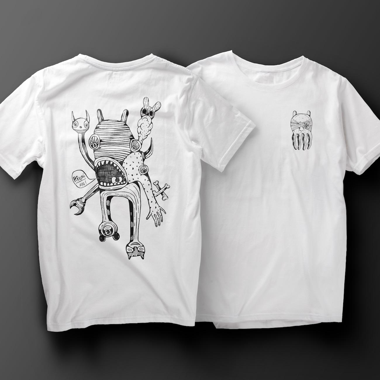 Eddie Hara T-Shirt mit Illustration zugute von Studio Clash