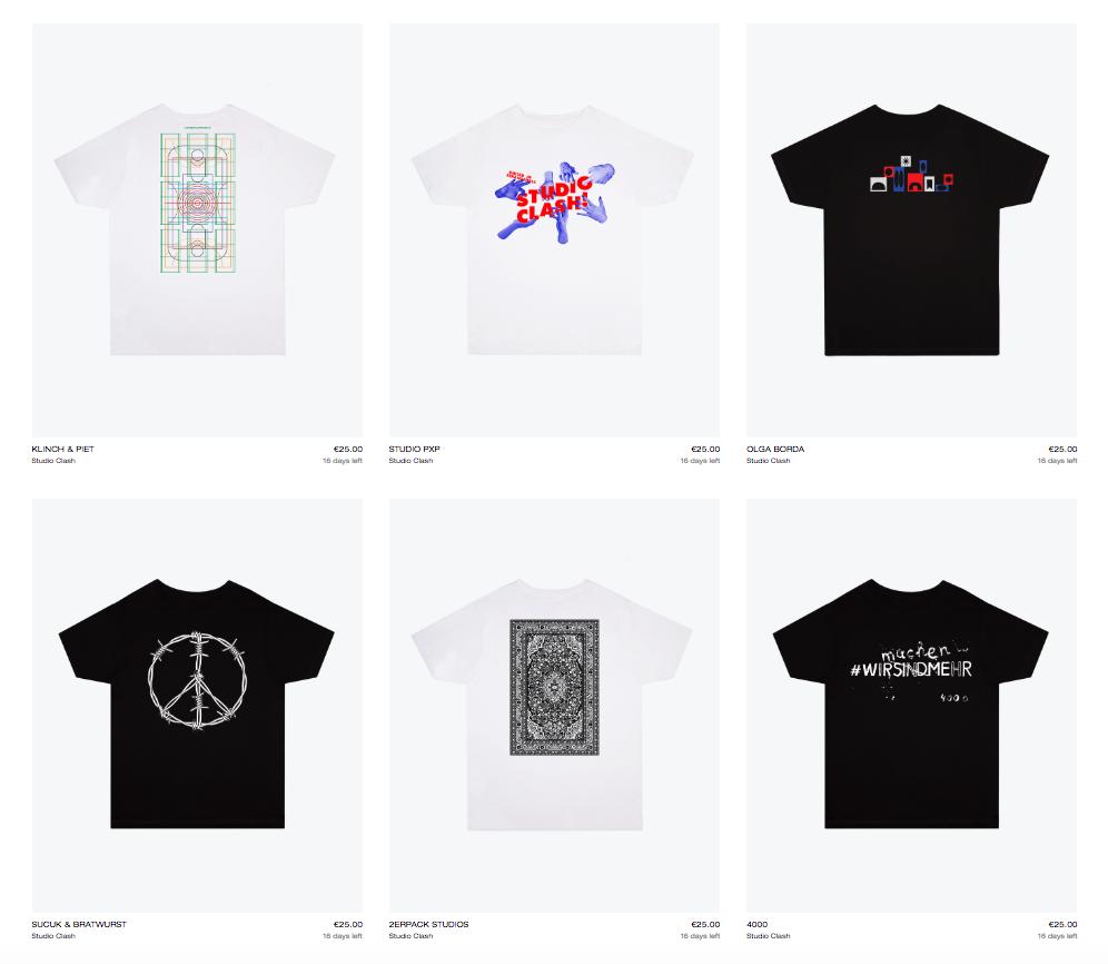 Studio Clash Benefiz T-Shirts